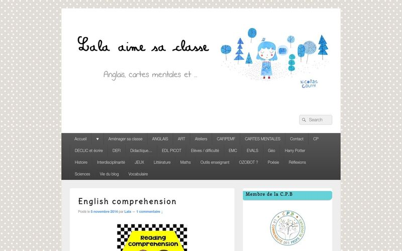 English comprehension - Lala aime sa classe